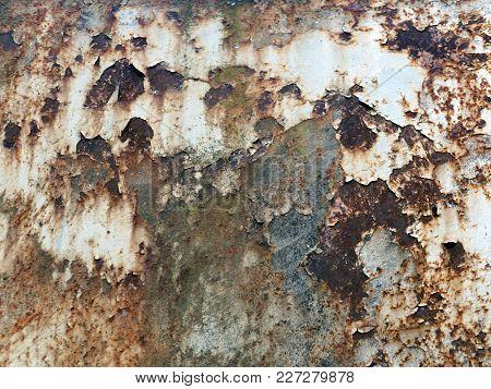 Rusty Metal Surface. Rusty Texture Of A Metal Spatula