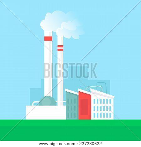 Alternative Energy Sources. Flat Design Vector Illustration.