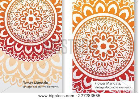 Vector Pattern Of Mandalas Of Sunny Shades On A Light Background.