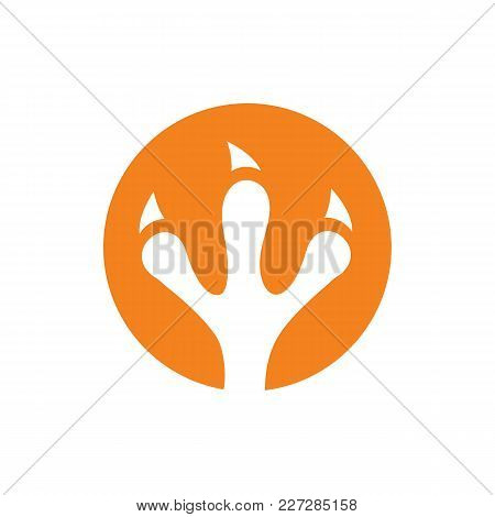 Bird Or Chicken Claw Vector. Clean And Simple Chicken Or Bird Traces. Isolated On White Background.