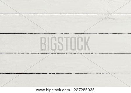 Wood Plank White Texture Background. Wooden Horizontal  Backboard