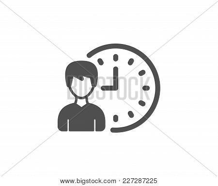 Business Project Deadline Simple Icon. Working Hours Or Time Management Sign. Quality Design Element