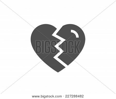 Break Up Love Simple Icon. Divorce Sign. Valentines Day Symbol. Quality Design Elements. Classic Sty