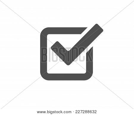 Check Simple Icon. Approved Tick Sign. Confirm, Done Or Accept Symbol. Quality Design Elements. Clas