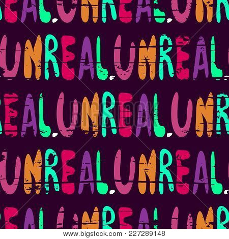 A Seamless Pattern Of Words In English In The Style Of Graffiti. Quality Vector Illustration For You