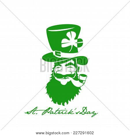 Green St.patrick Day On White Background With Typography Vector Illustration Design.