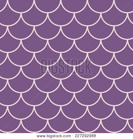 Mermaid Scale Seamless Pattern. Fish Skin Texture. Tillable Background For Girl Fabric, Textile Desi