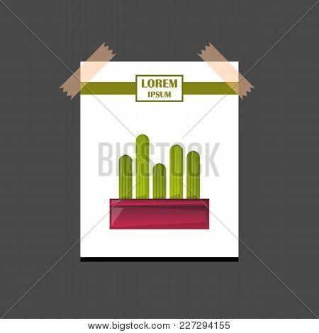 Vector Cartoon House Plant Cactus Icon