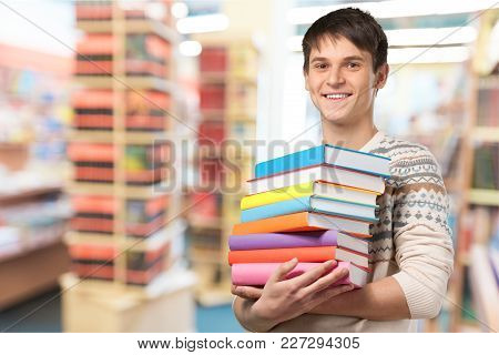 Young Student Handsome Young Adult Man Face Background View
