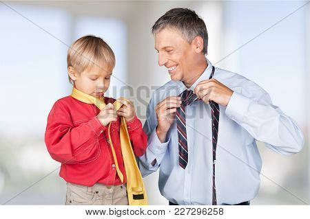 Boy Tie Father Neckties White Day Event