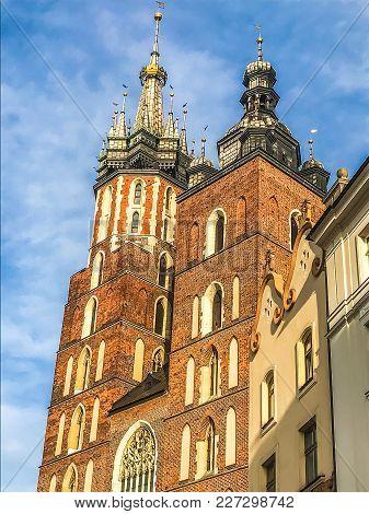 Church Of Saint Mary In Krakow, Poland.