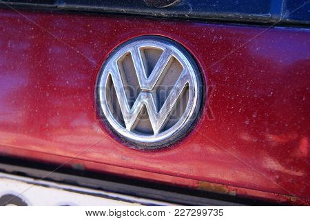 Volkswagen Is A German Automotive Brand, One Of Many Belonging To The Volkswagen Ag Concern. Emblem,