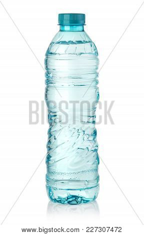 Water Bottle Isolated On White With Clipping Path