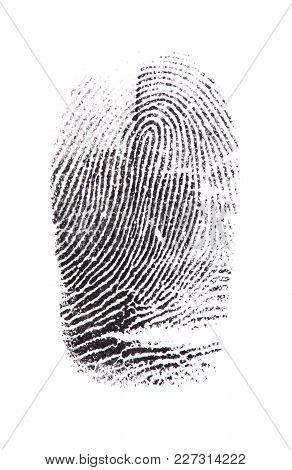 Black Finger Print Fingerprint White Background Nobody