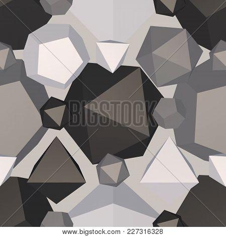 Geometric Generate Backdrop. Vector Illustration. Seamless Pattern Background.