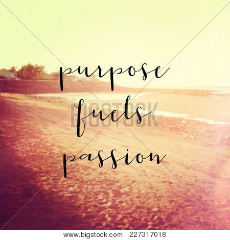 Quote - Purpose fuels passion