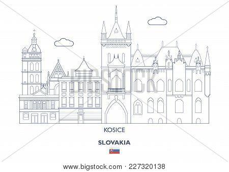 Kosice Linear City Skyline, Slovakia. Famous Places