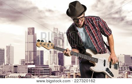 Play Young Man Guitar Handsome Arms Crossed White