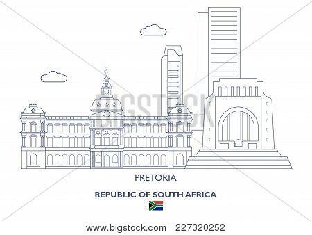 Pretoria Linear City Skyline, South Africa. Famous Places