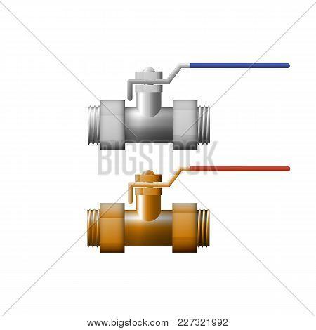 Lockshield Valve Vector Illustration. Equipment For Gas.