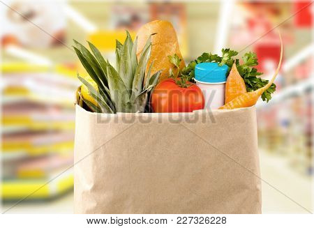 Healthy Lifestyle Eating Healthy Organic Food Table White Background Close-up