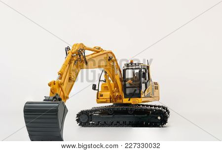 The Crawler Excavator  Model On  White Background