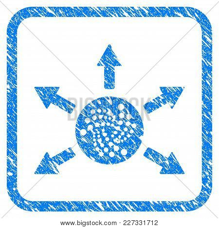 Iota Cashout Arrows Rubber Seal Stamp Imitation. Icon Vector Symbol With Grunge Design And Dirty Tex