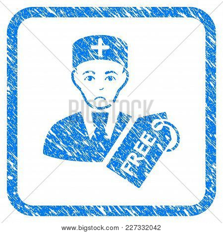 Free Doctor Rubber Seal Stamp Watermark. Icon Vector Symbol With Grunge Design And Dirty Texture Ins