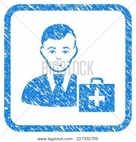 First-aid Manager Rubber Seal Stamp Watermark. Icon Vector Symbol With Grunge Design And Dust Textur