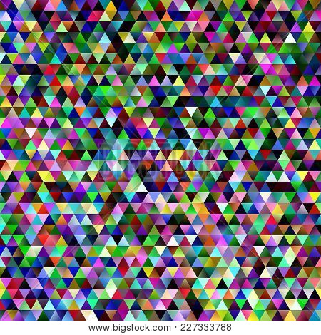 Abstract Gradient Tiled Triangle Pattern Background - Vector Mosaic Graphic Design With Colorful Reg
