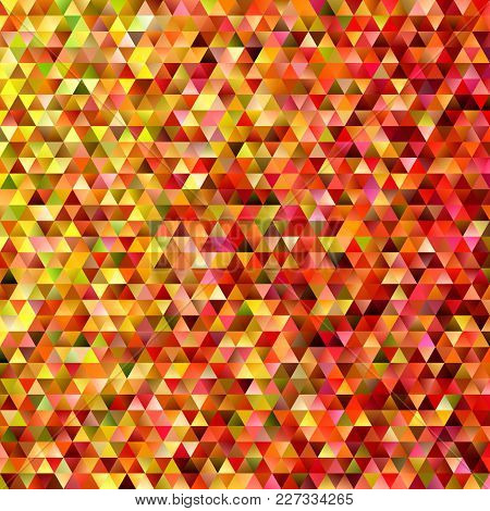Abstract Regular Triangle Tile Mosaic Background - Modern Gradient Polygon Vector Graphic Design