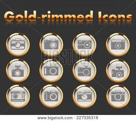 Camera Gold-rimmed Icons For Your Creative Ideas