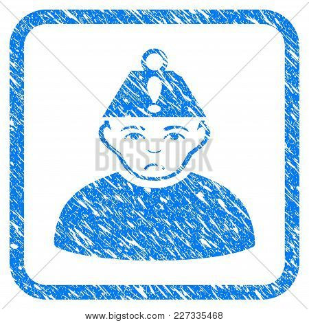 Head Stress Rubber Seal Stamp Watermark. Icon Vector Symbol With Grunge Design And Dust Texture In R