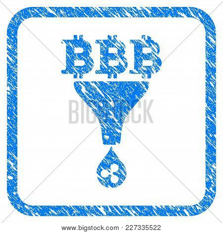 Dollar Ripple Sales Funnel Rubber Seal Stamp Watermark. Icon Vector Symbol With Grunge Design And Di