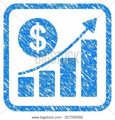 Dollar Growth Graph Rubber Seal Stamp Watermark. Icon Vector Symbol With Grunge Design And Dust Text