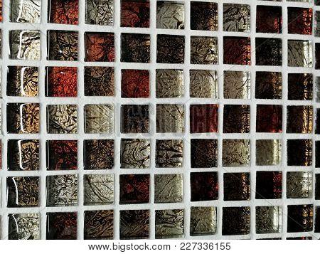Color Mosaic, Texture, Tiles On A Kahun.