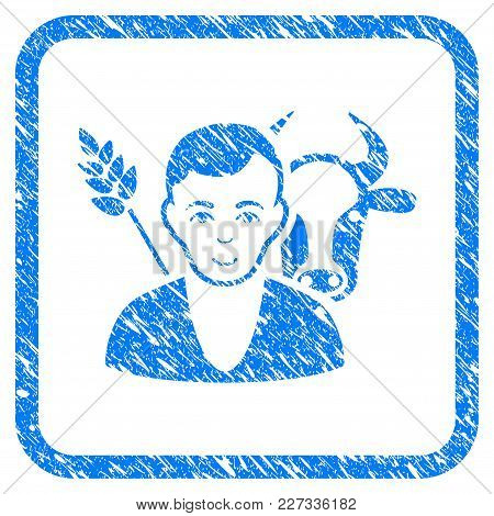 Farmer Rubber Seal Stamp Imitation. Icon Vector Symbol With Grunge Design And Unclean Texture In Rou