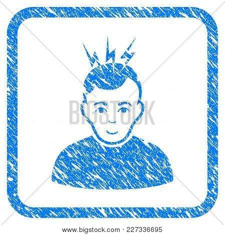 Headache Rubber Seal Stamp Imitation. Icon Vector Symbol With Grunge Design And Dirty Texture Inside