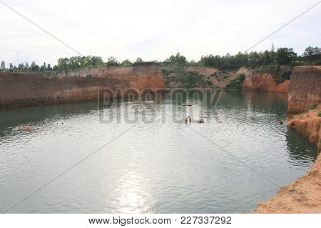 Hangdong Canyon Chiangmai. Resevoir From Old Excavation Laterite Soil For Sale.