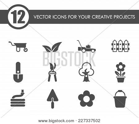 Landscape Design Vector Icons For Your Creative Ideas