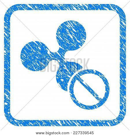 Forbidden Ripple Rubber Seal Stamp Imitation. Icon Vector Symbol With Grunge Design And Unclean Text