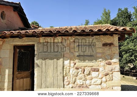 Small Construction Of The Roussillon Ocher Factory Where Was Treated Ore To Produce Products Such As