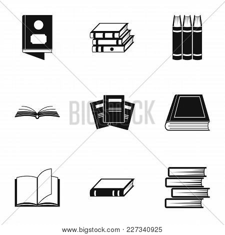 Reference Icons Set. Simple Set Of 9 Reference Vector Icons For Web Isolated On White Background