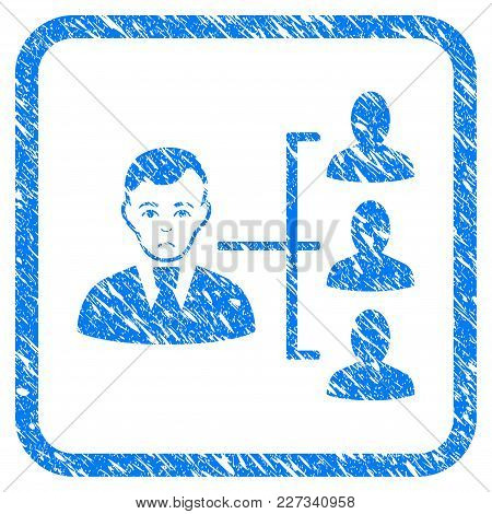 Distribution Manager Rubber Seal Stamp Imitation. Icon Vector Symbol With Grunge Design And Corrosio