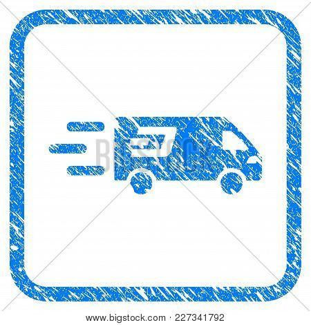 Fast Dash Delivery Car Rubber Seal Stamp Watermark. Icon Vector Symbol With Grunge Design And Unclea