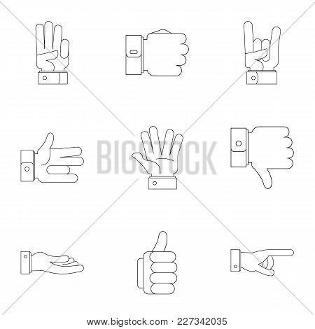 Manifestation Icons Set. Outline Set Of 9 Manifestation Vector Icons For Web Isolated On White Backg
