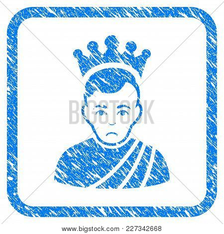Emperor Rubber Seal Stamp Imitation. Icon Vector Symbol With Grunge Design And Dust Texture In Round