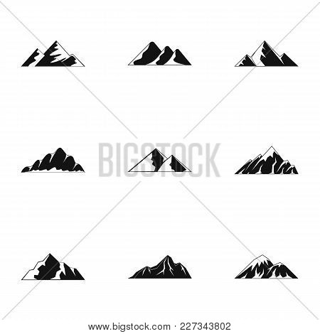 Highland Icons Set. Simple Set Of 9 Highland Vector Icons For Web Isolated On White Background