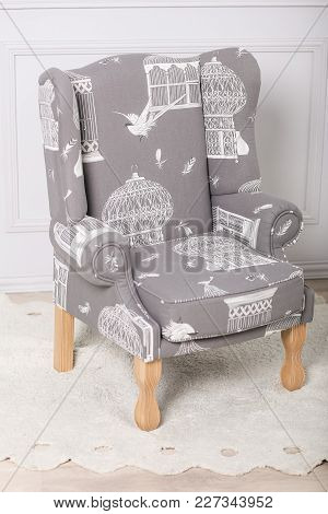 Baby Armchair In The Style Of Provence With A Picture Of The Hat With A Cage