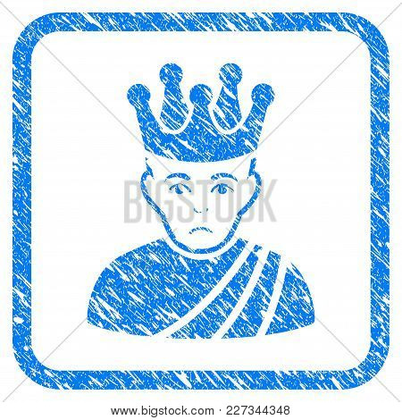 Emperor Rubber Seal Stamp Imitation. Icon Vector Symbol With Grunge Design And Dirty Texture In Roun